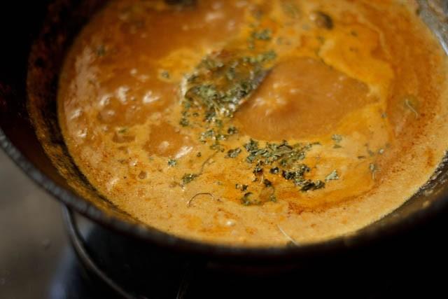 add kasuri methi to malai kofta gravy
