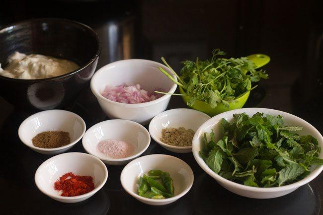 mint coriander raita recipe