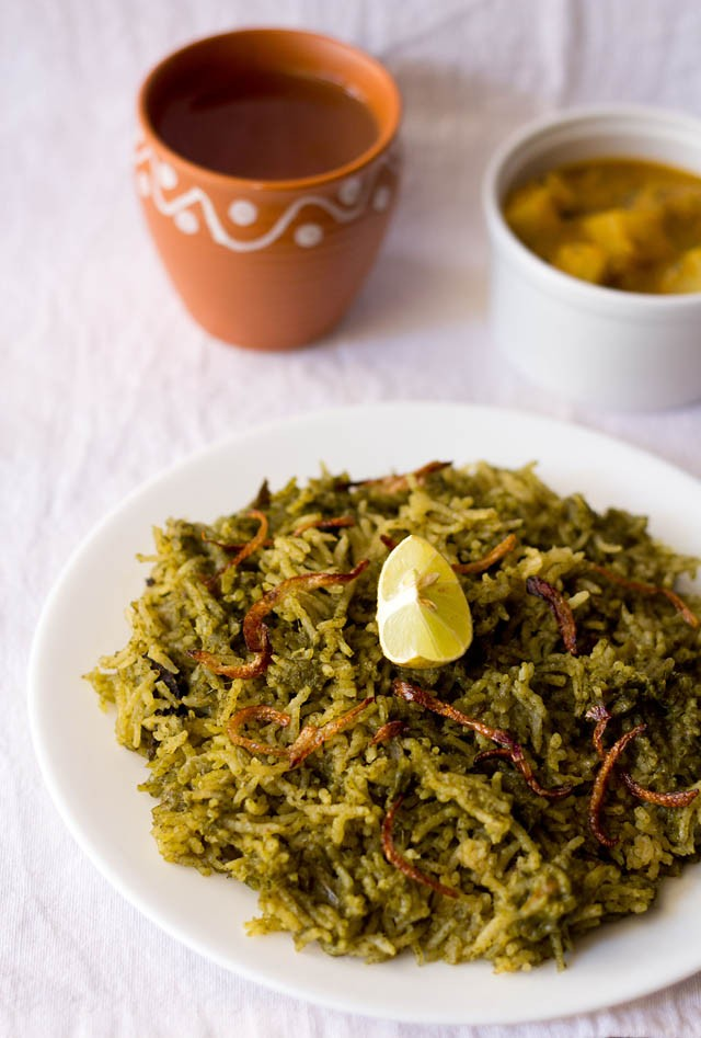 easy palak biryani recipe