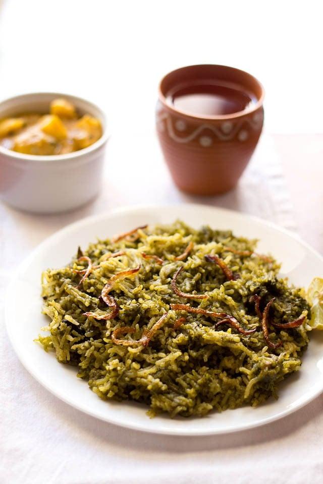 palak biryani recipe, how to make palak biryani | easy biryani recipe
