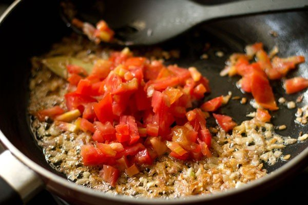 chopped tomatoes added