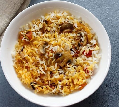 ambur veg biryani recipe with mushrooms