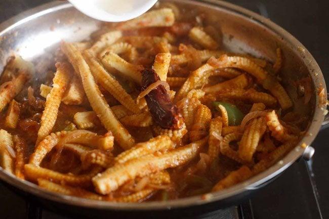 add ½ teaspoon apple cider vinegar