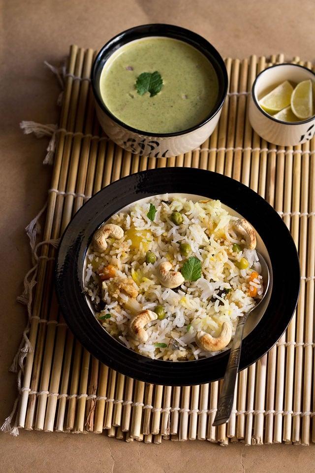kashmiri biryani recipe, how to make kashmiri veg biryani recipe