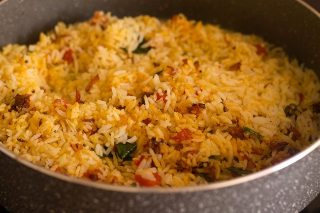 masala rice or spiced rice recipe