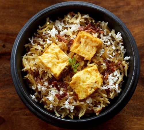paneer biryani recipe in pressure cooker