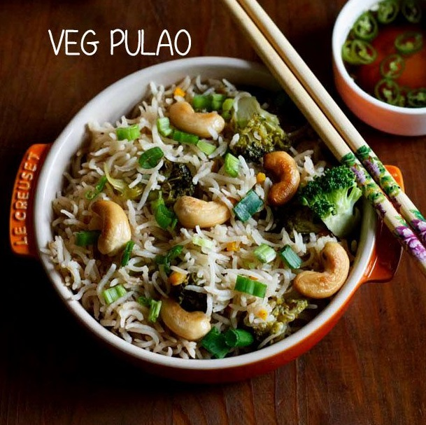 asian style veg pilaf