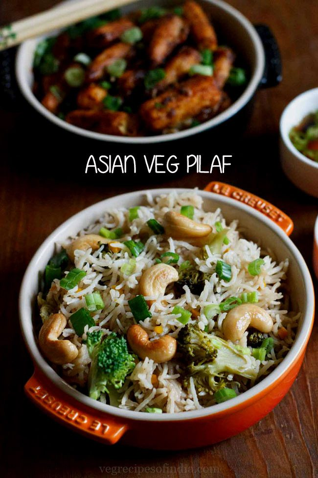 veg pulao recipe, pilaf rice