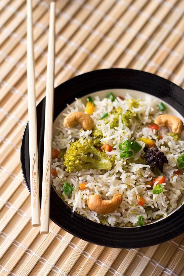 veg pulao recipe | asian style veg pilaf | vegetable pulao recipe