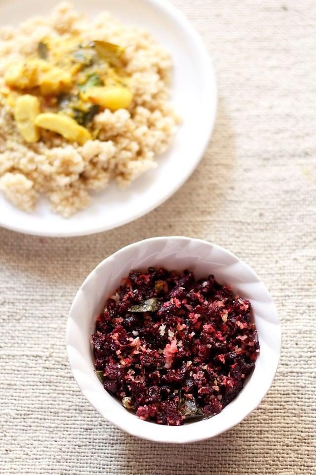 beetroot poriyal recipe