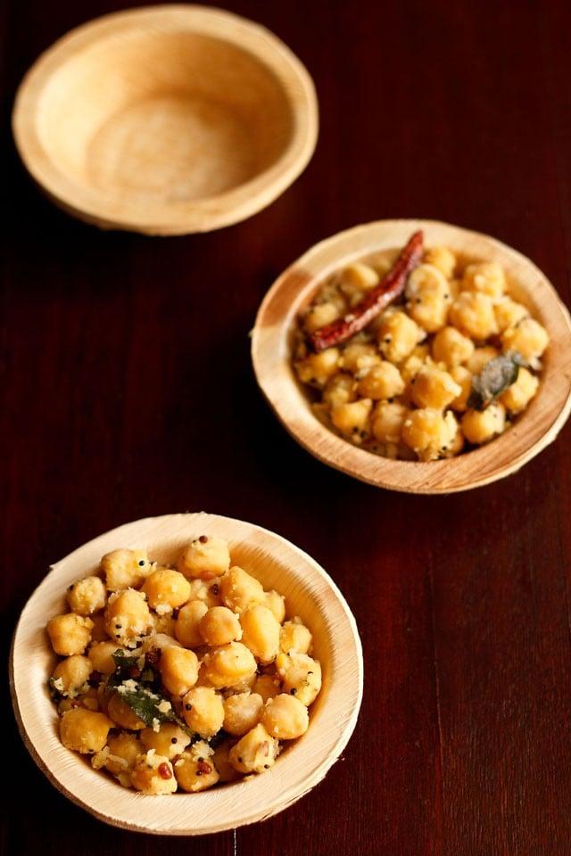 chana sundal recipe, how to make chana sundal recipe | sundal recipes