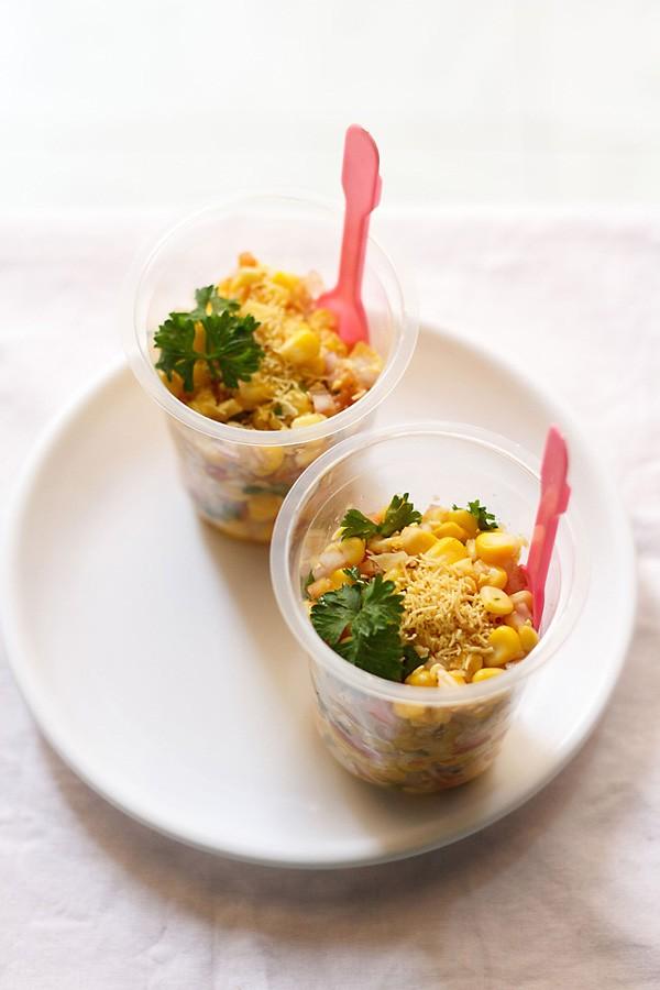 corn chaat recipe | masala corn recipe | how to make corn chaat recipe