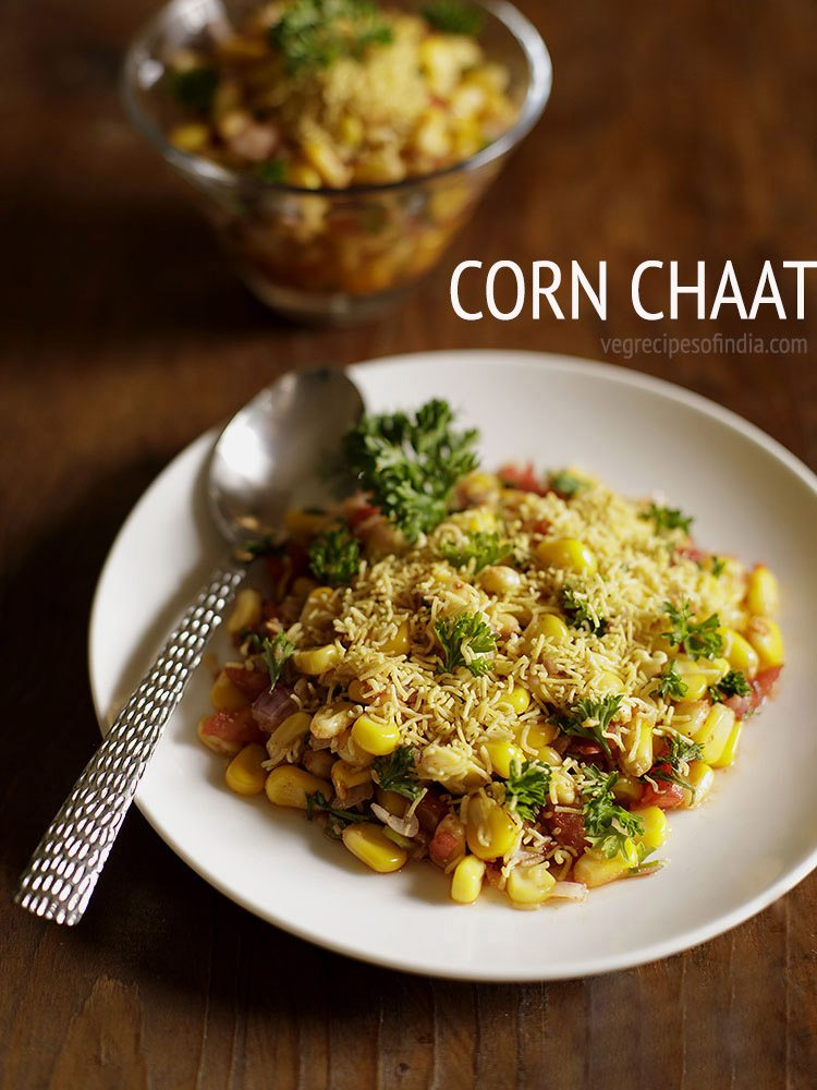 corn chaat recipe | masala corn recipe | spicy sweet corn chaat recipe