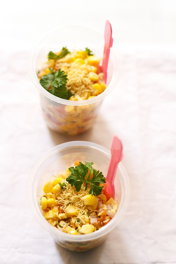 corn chaat recipe, masala corn recipe