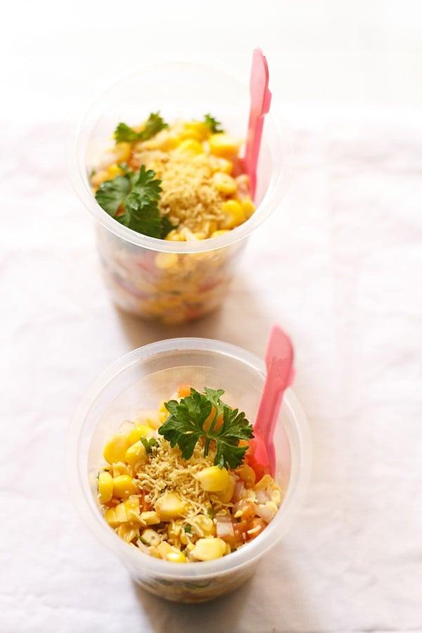 corn chaat recipe, masala corn recipe