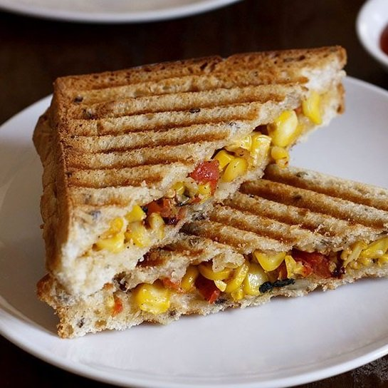 corn sandwich recipe, sweet corn sandwich recipe