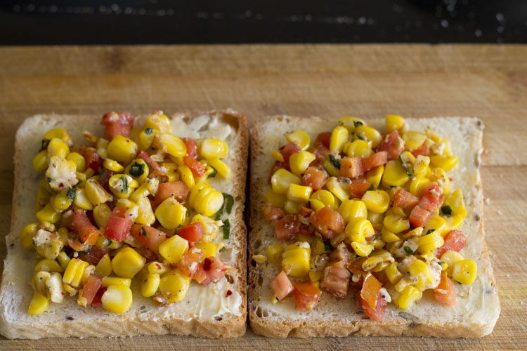 corn sandwich recipe