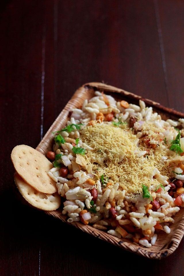 dry bhel puri recipe, sukha bhel puri recipe