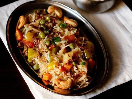 vegetable pulao recipe in pressure cooker