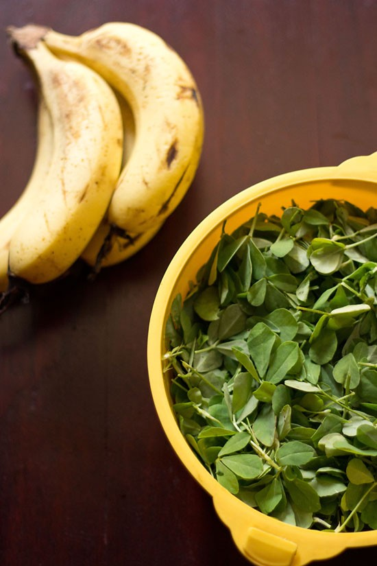 methi and banana