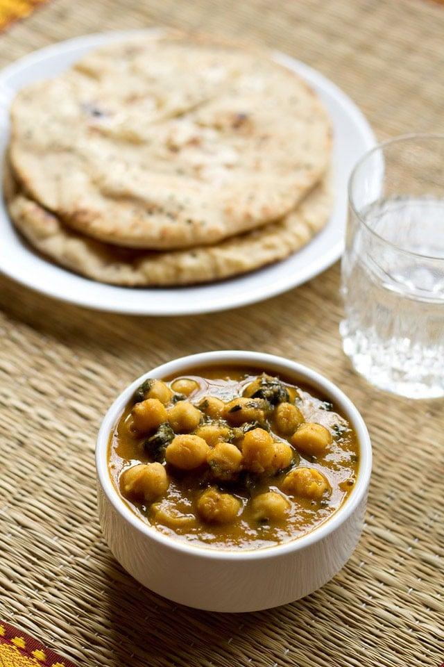methi chole recipe, how to make punjabi methi chole masala recipe