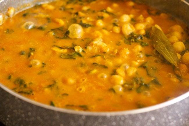 methi chole, methi chole recipe, methi curry recipe, methi chana recipe
