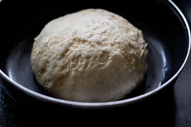 knead the naan dough