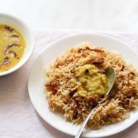 dhan dal or parsi dal with brown rice
