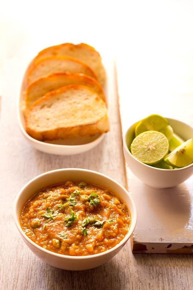 pav bhaji recipe, no onion no garlic pav bhaji recipe | stepwise
