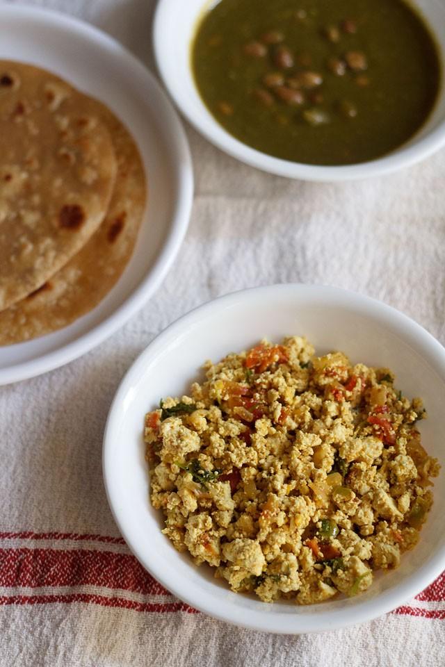 scrambled tofu bhurji