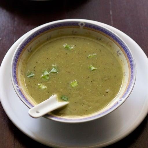 spring onions soup recipe