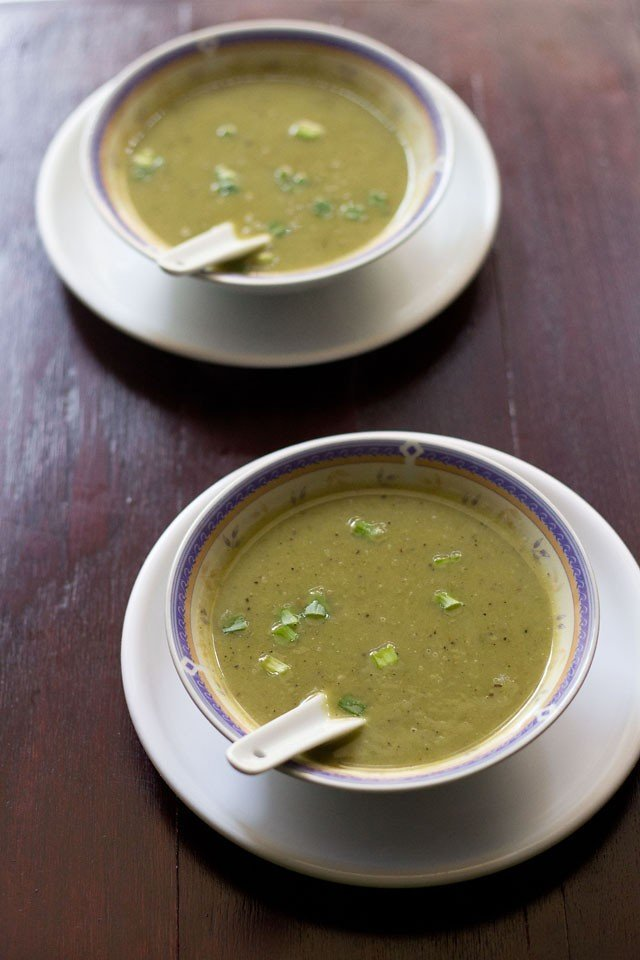 spring onion soup recipe