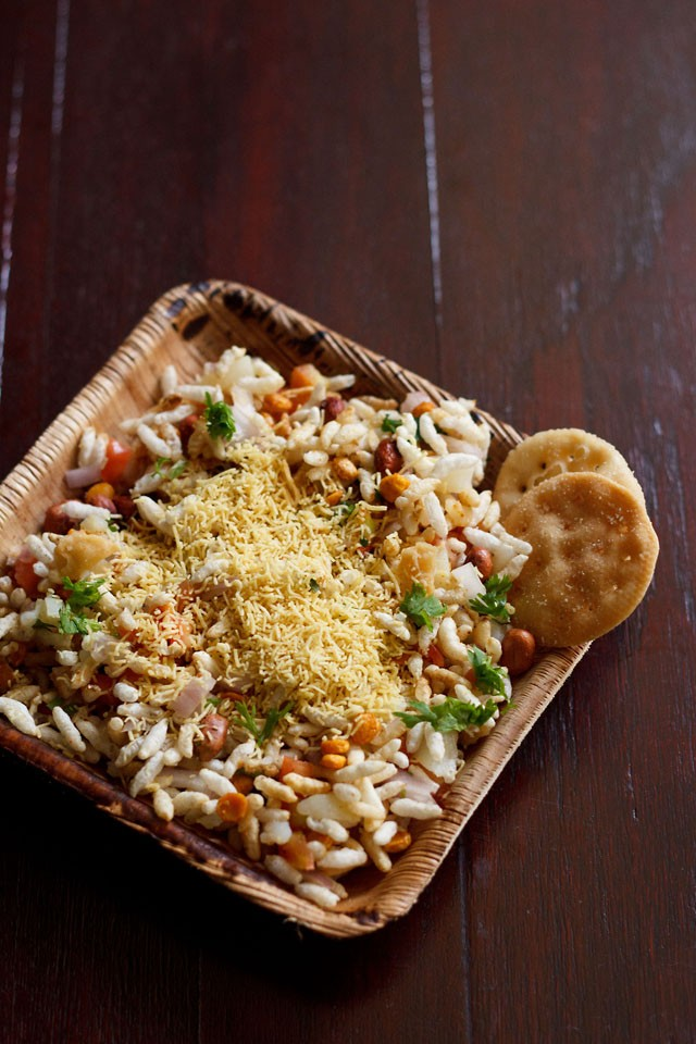 sukha bhel puri recipe or dry bhel puri recipe – mumbai street food