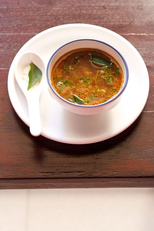 tamarind rasam recipe, how to make tamarind rasam | rasam recipes
