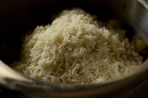 rice for vegetable pulao recipe
