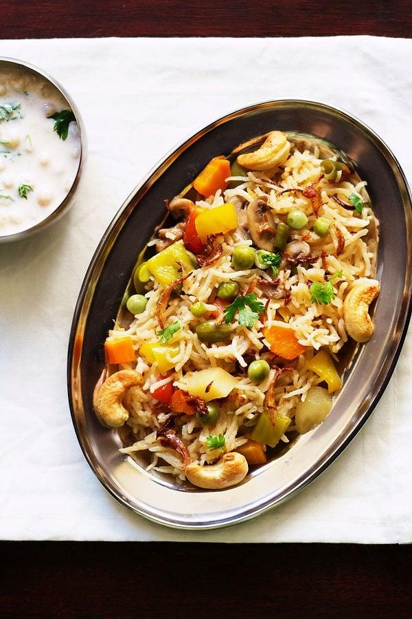 easy veg pulao recipe in pressure cooker, veg pulao recipe, vegetable pulao recipe