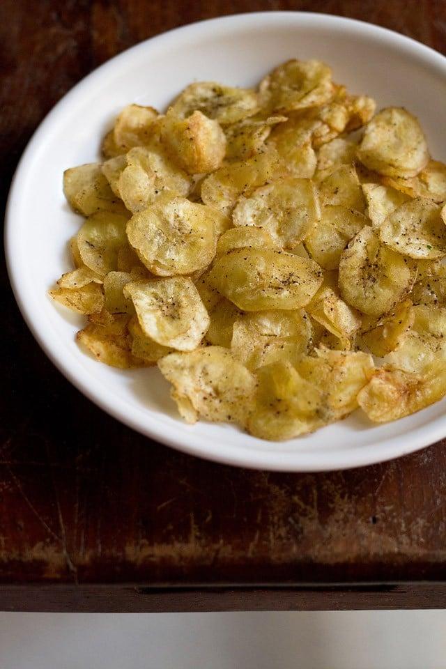 banana chips or banana wafers, how to make banana chips recipe