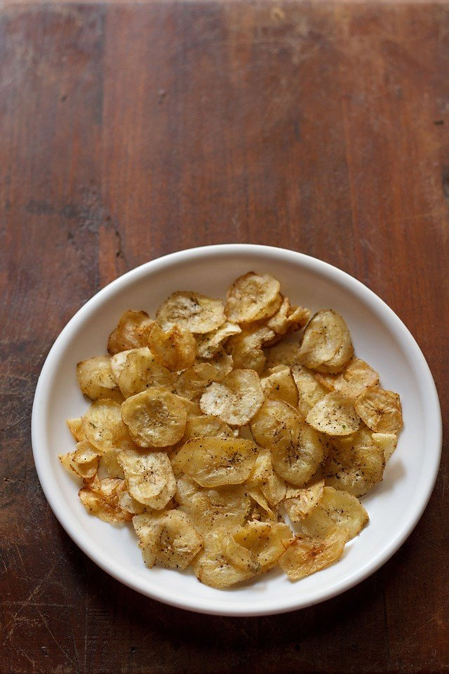banana chips recipe, banana wafers recipe