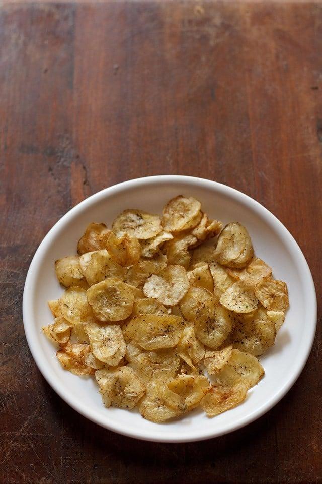 banana chips recipe, banana wafers recipe