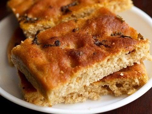 basil focaccia bread recipe