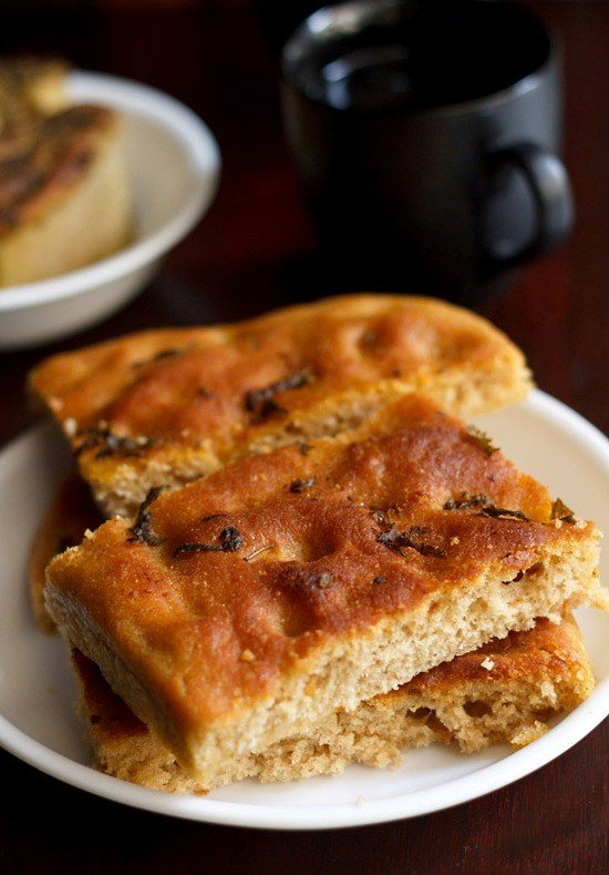 Basil Focaccia Bread Recipe How To Make Basil Focaccia