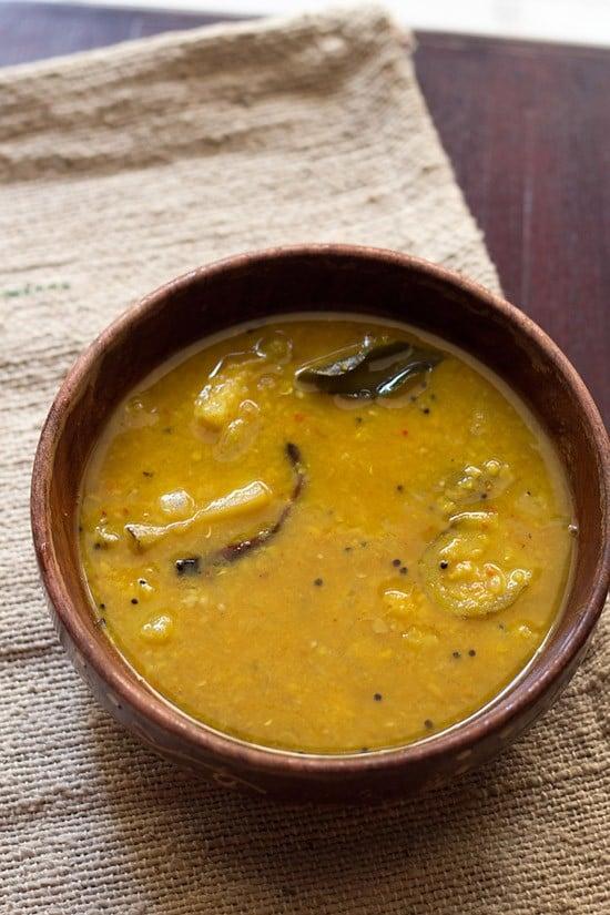 brinjal sambar, kathirikai sambar