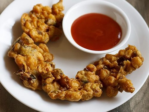 corn pakora recipe, corn fritters recipe