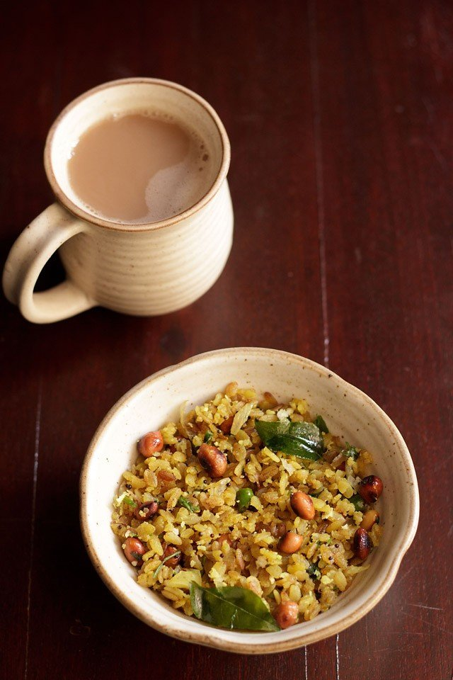 kanda poha or onion poha recipe