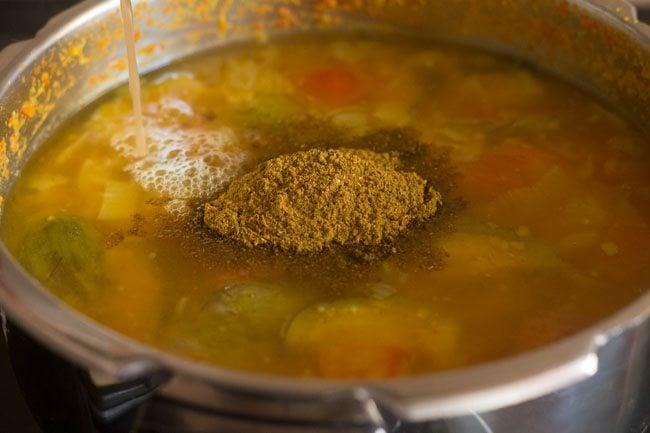 added sambar powder