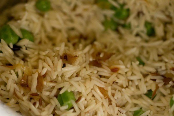 making matar pulao recipe