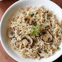 mushroom pulao - pulao recipes