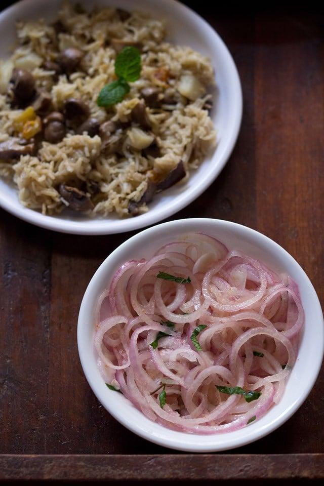 onion lachcha recipe, onion rings salad recipe