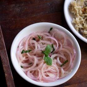 onion lachcha, onion rings salad