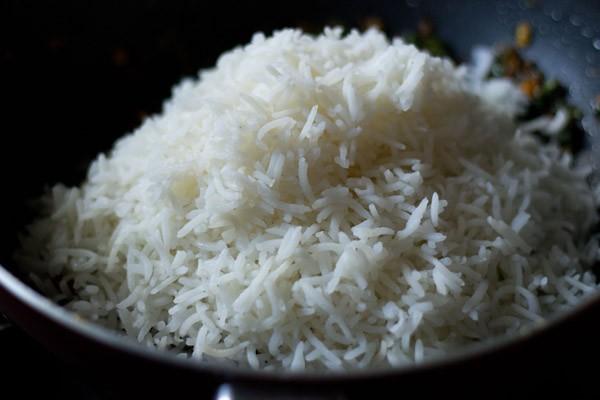 rice to make veg fried rice recipe